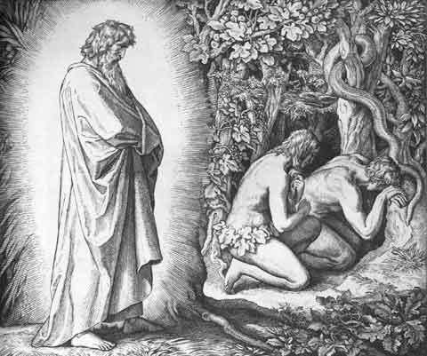 Адам и Ева покланялись Иисусу